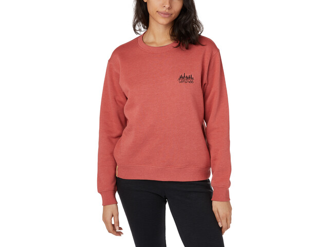 tentree T-shirt manches longues à col ras-du-cou Femme, mineral red heather